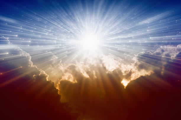 Light from avobe Beautiful background - bright sunshine, light from sky, heaven always stock pictures, royalty-free photos & images