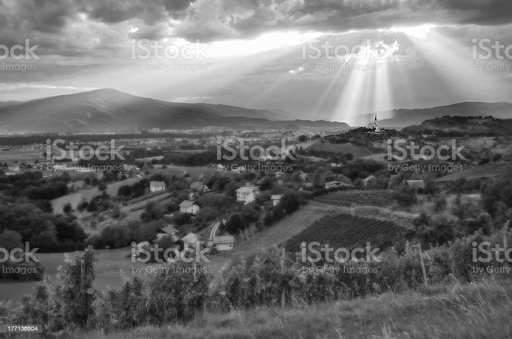 Light from heaven. royalty-free stock photo