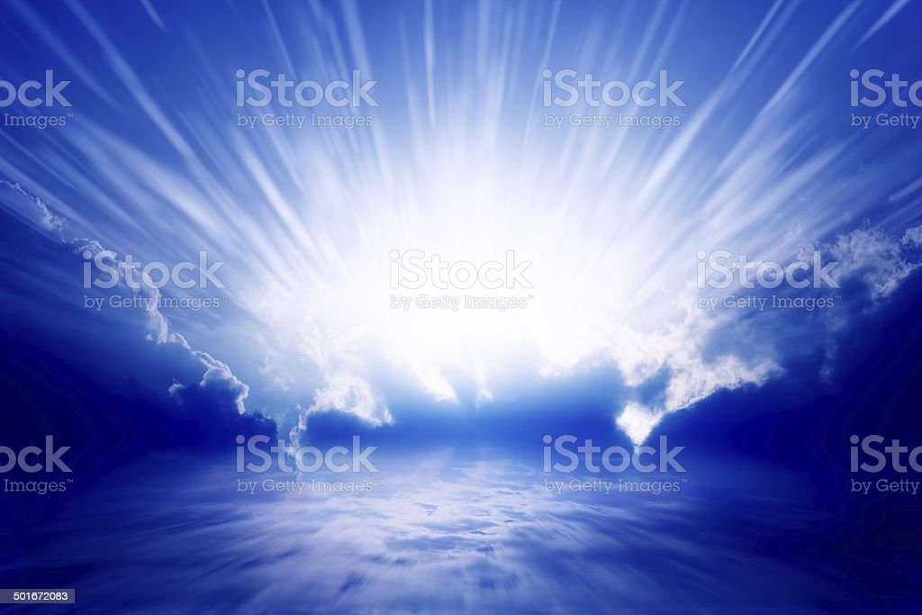 Light from sky stock photo