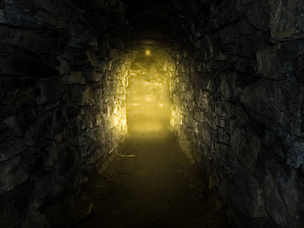 light from the cave - crypt stock pictures, royalty-free photos & images