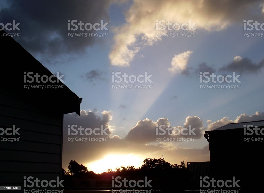 Light From the Heavens stock photo
