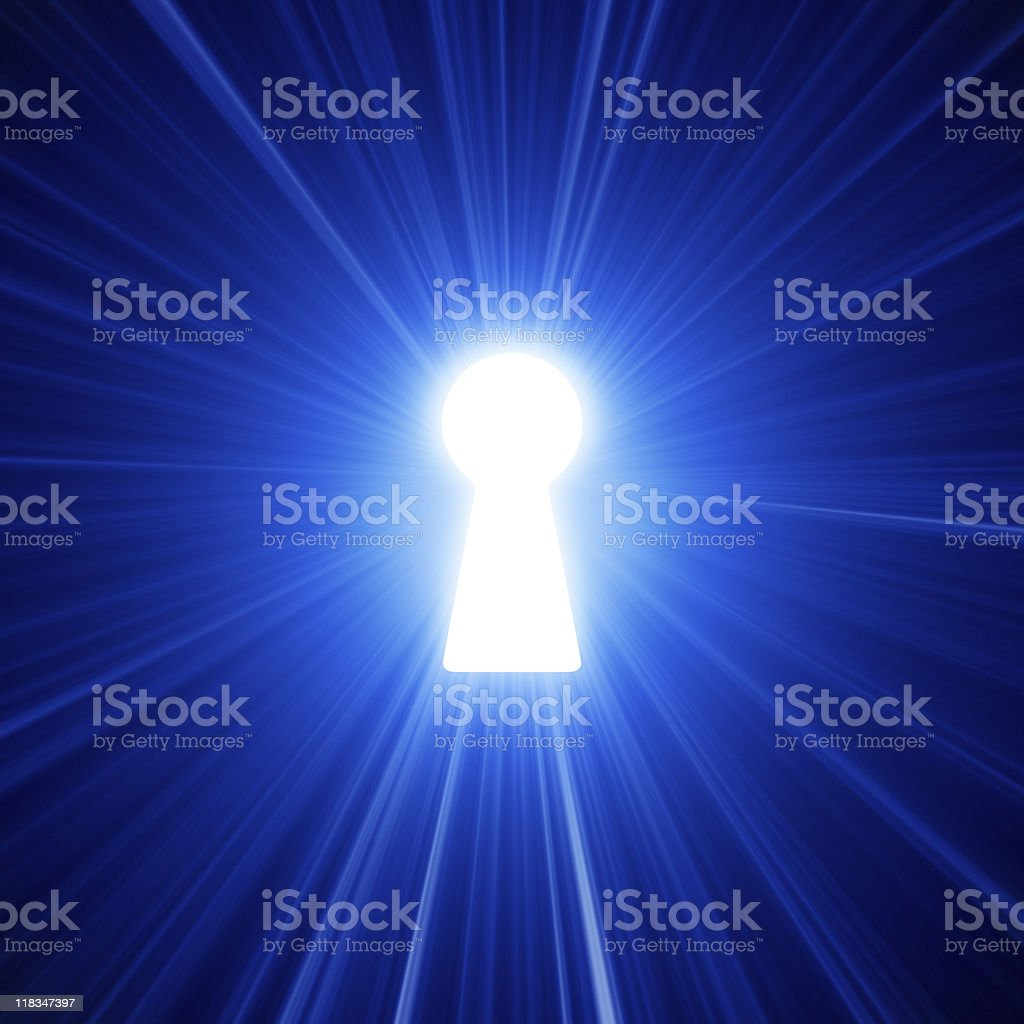 Light From The Keyhole stock photo