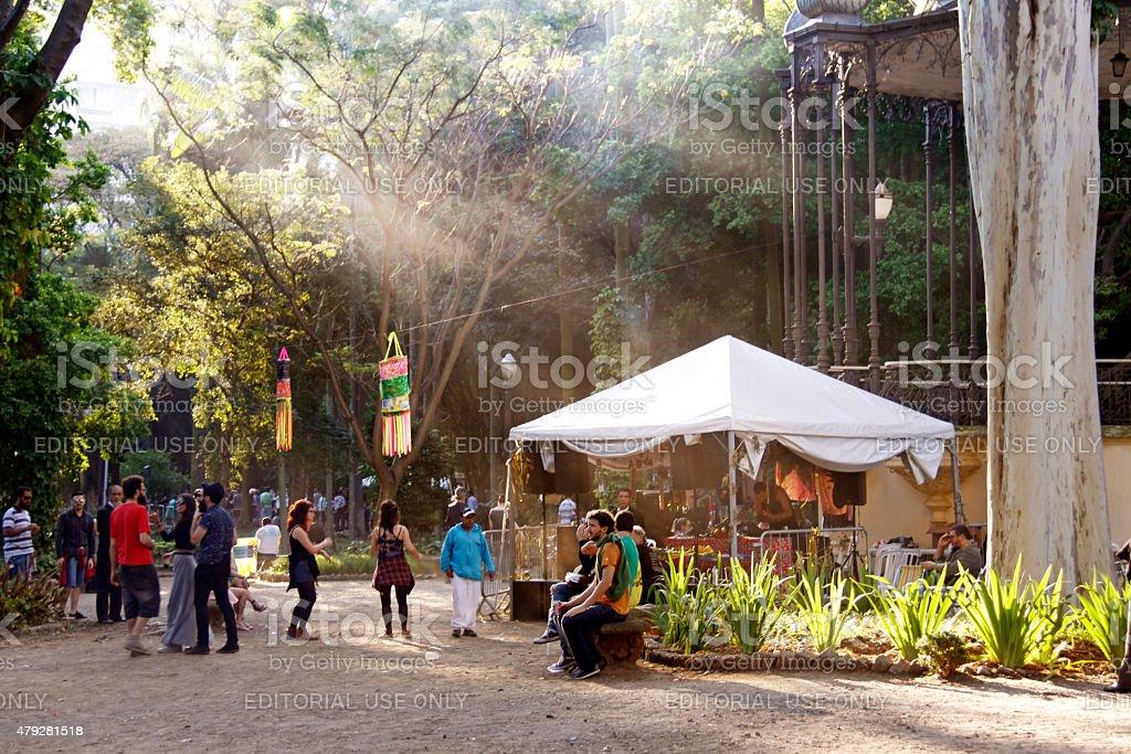 Luz garden - jardim da Luz stock photo