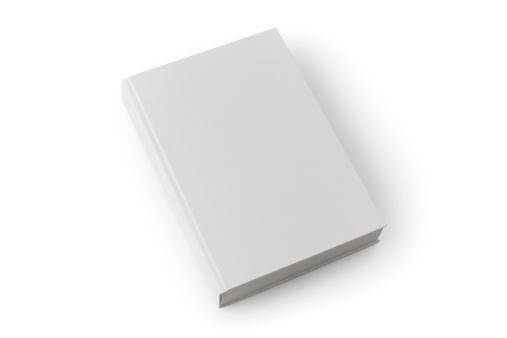 isolated blank book with shadow