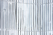 istock Light gray plank wooden background 1216905862