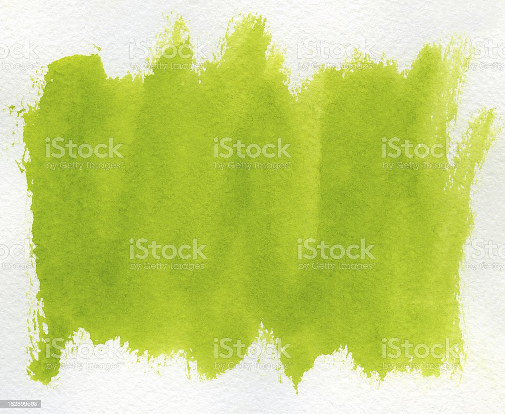 Light green paint streaks against a white background royalty-free stock photo