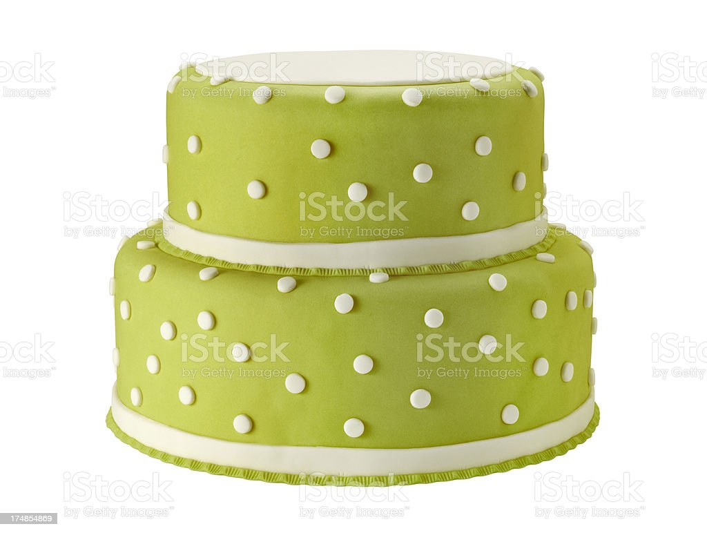 Light green wedding cake with clipping path stock photo