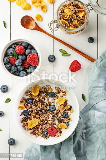 599887760 istock photo Light healthy breakfast 1144789468