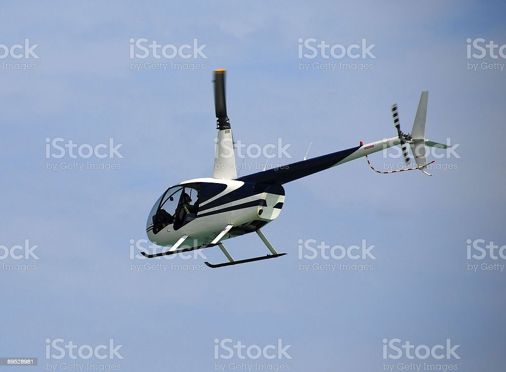 Light helicopter in flight royalty-free stock photo