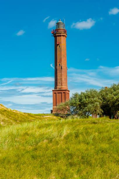 leuchtturm an der nordsee-insel norderney - urlaub norderney stock-fotos und bilder