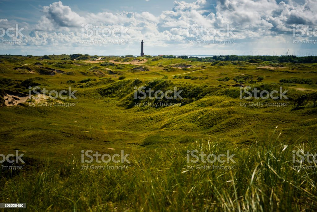light house at North Sea Island Norderney stock photo