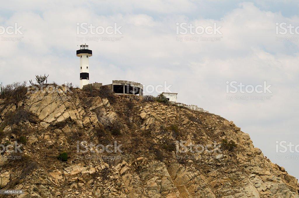 Light House Bahías de Huatulco. Lighthouse. Punta Santa Cruz stock photo