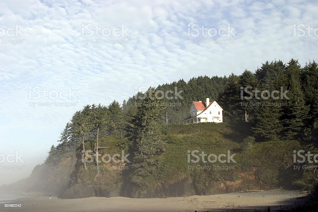 Light House Keepers House royalty-free stock photo