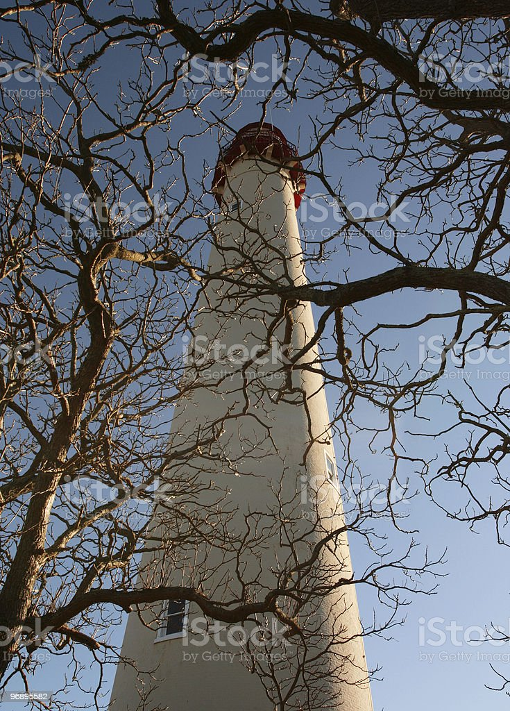 Light house on winter afternoon royalty-free stock photo