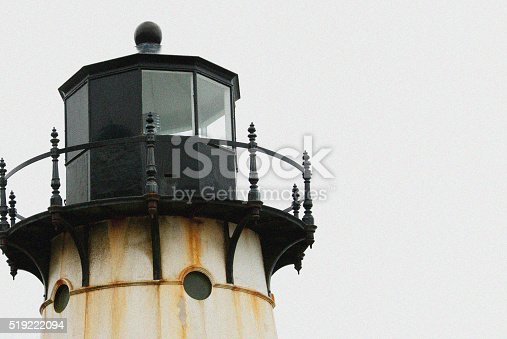 615497916 istock photo Light House with Overcast Sky. 519222094