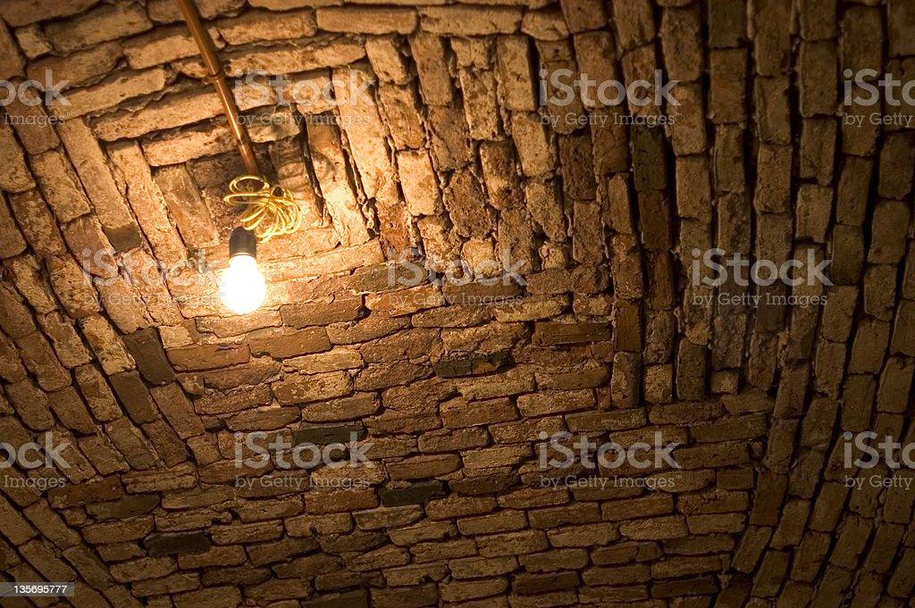 light in a dark basement royalty-free stock photo