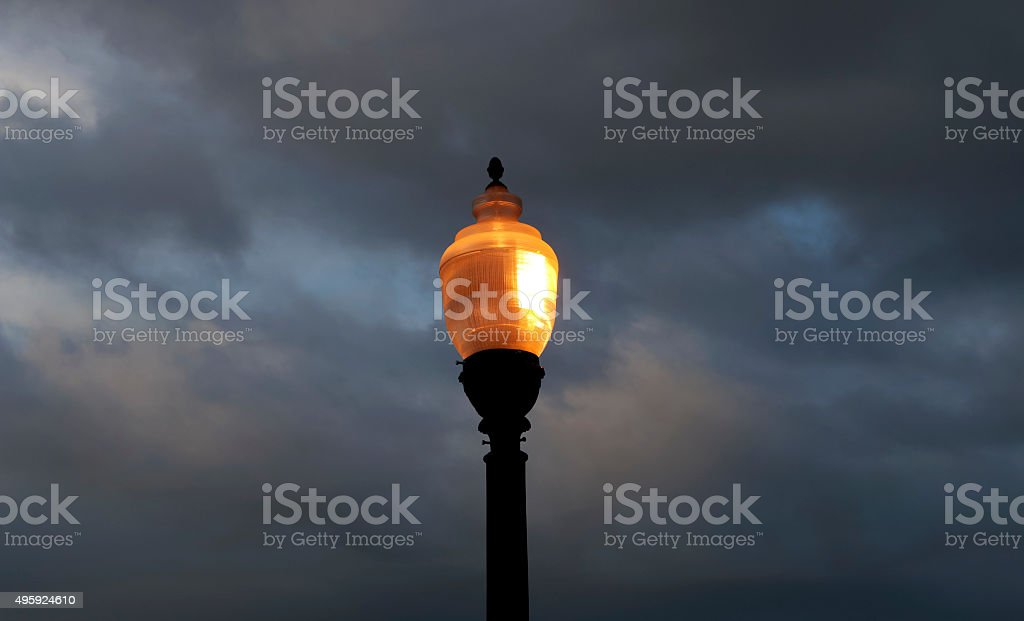 Light in a Gray Clouded Sky stock photo