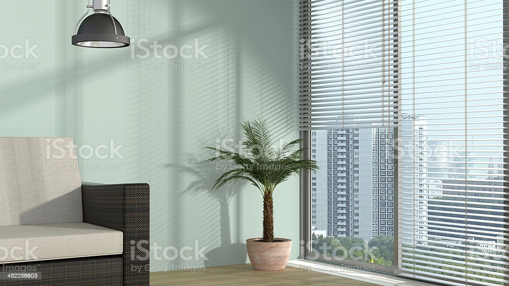 light in the room stock photo