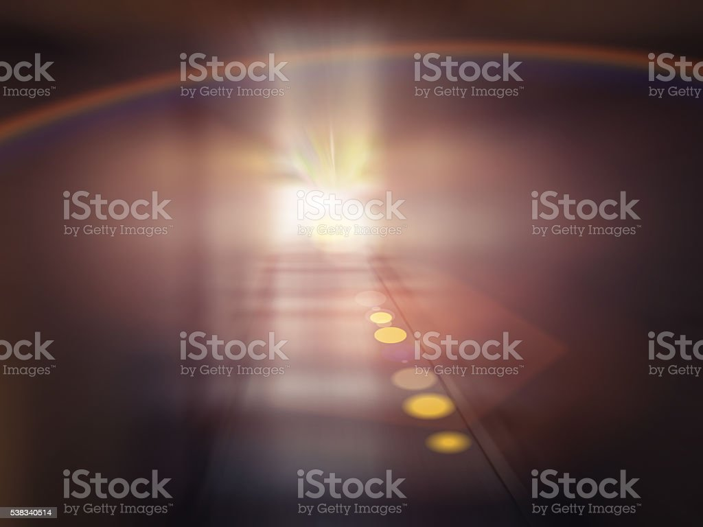 Light in the Tunnel stock photo