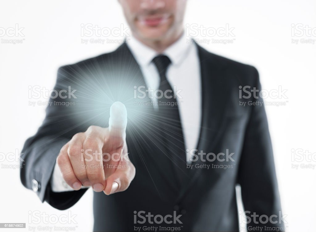 Light in your hands stock photo