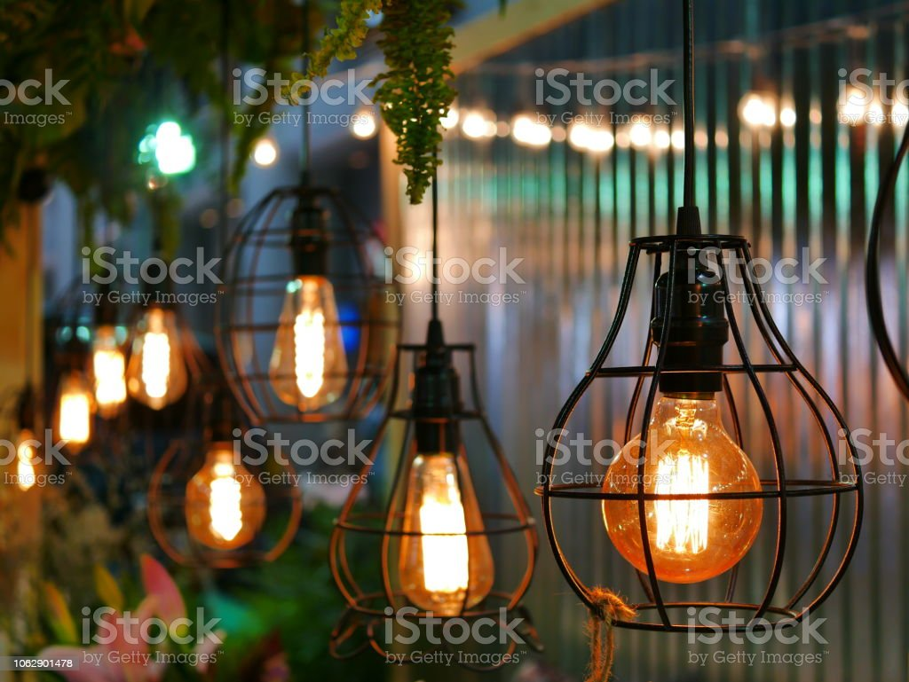 Licht Lampen im Retro-Stil – Foto