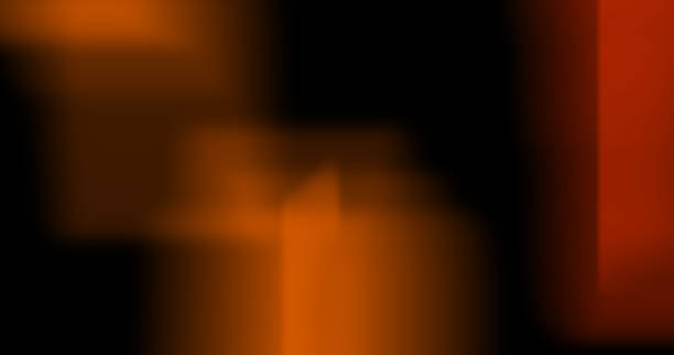 Light Leak Burn on Black Background stock photo