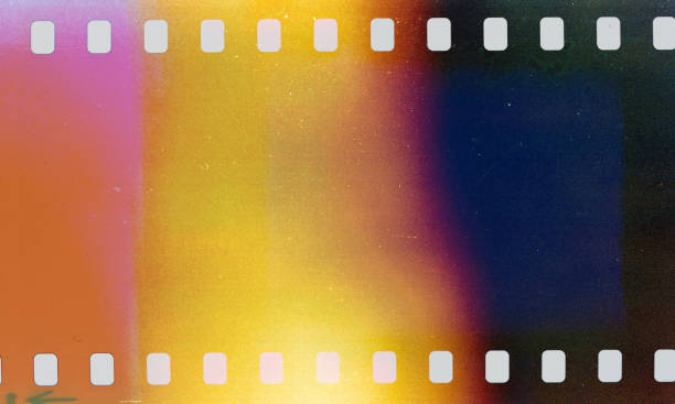 Light Leaks From Vintage Camera stock photo