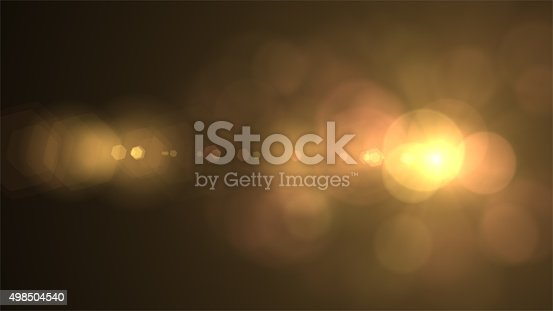 istock Light Lens Flare Overlay, Transition, Film Burn, Light leak 498504540