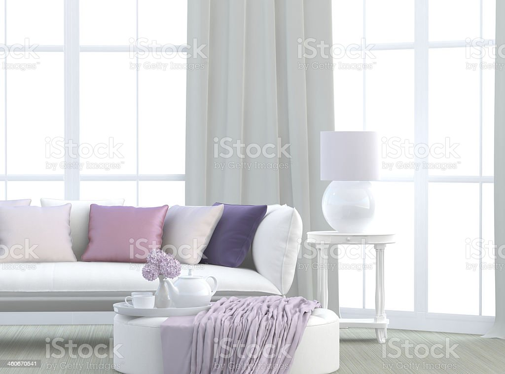 Light living room stock photo