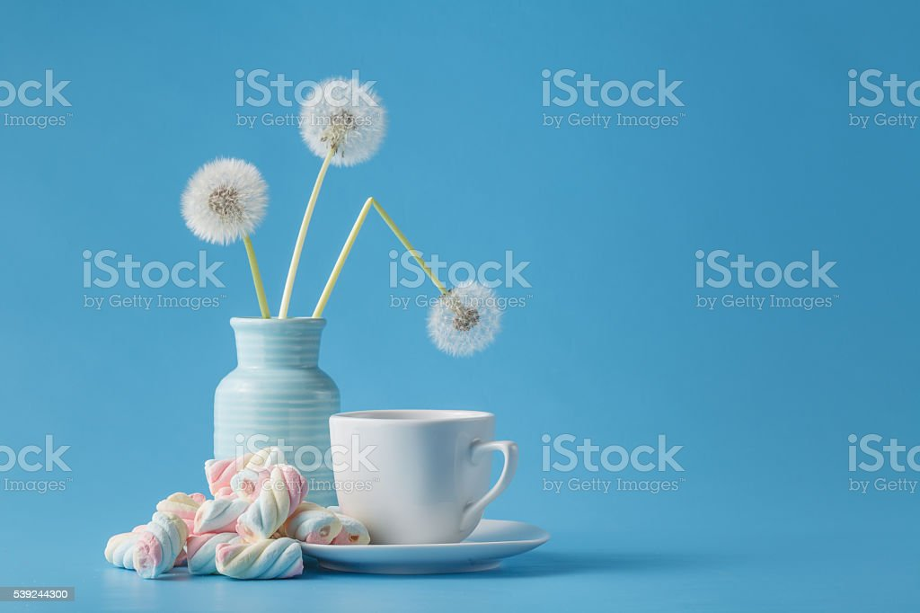light marshmallow sweets like dandelion foto de stock libre de derechos