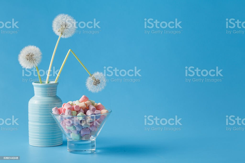 light marshmallow sweets like dandelion royalty-free stock photo