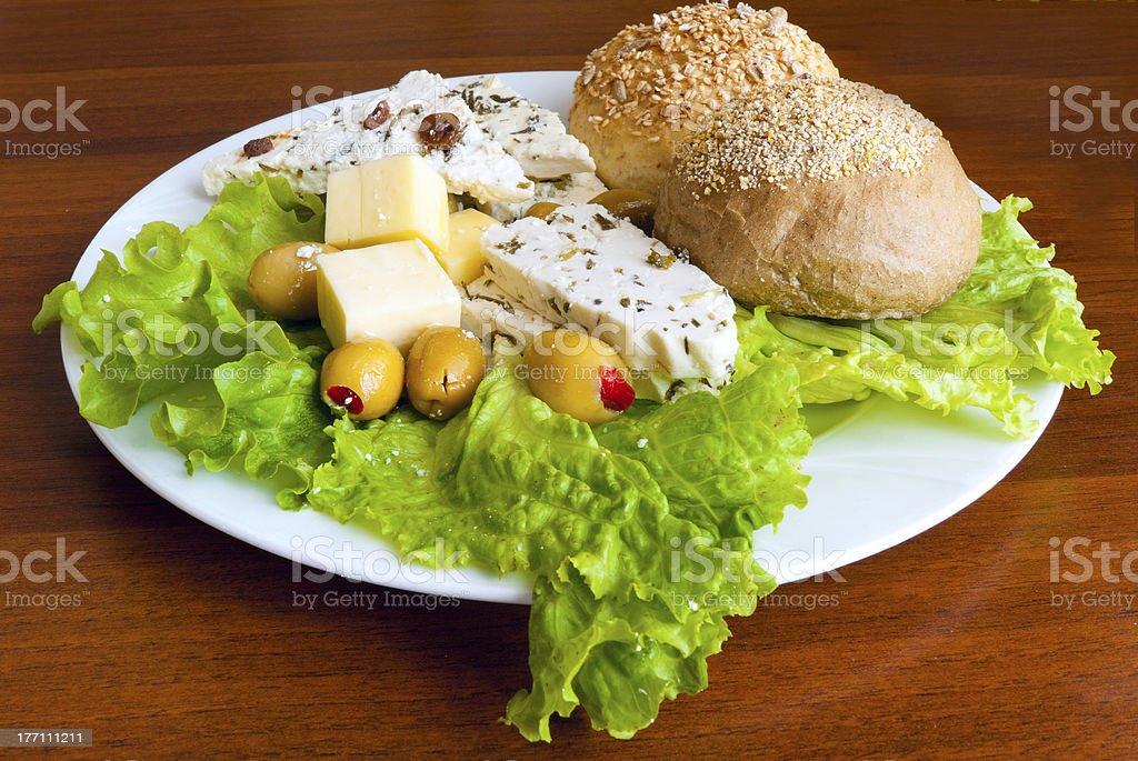 Light mediterranean lunch royalty-free stock photo