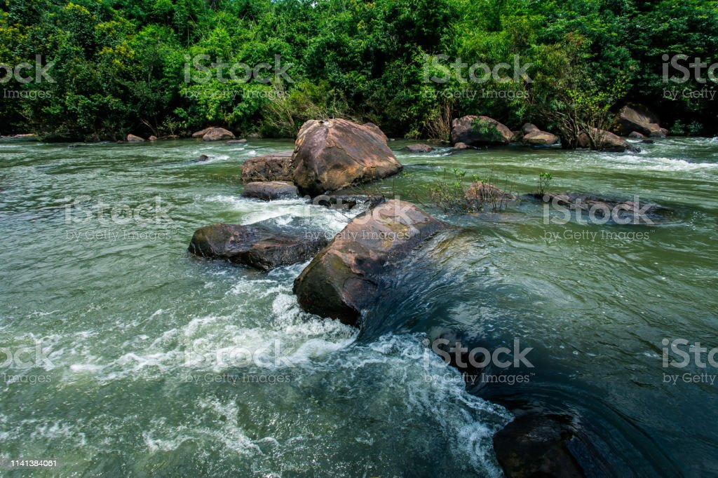 waterfall water nature river stream forest landscape cascade green...