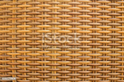 Light natural wicker textured material