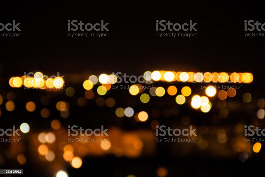 Light Night At City Bokeh Blur Abstract Background Colorful