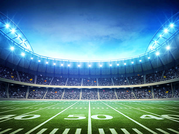 light of american soccer stadium - baseball sport stock photos and pictures