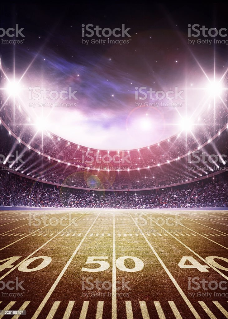 light of american stadium stock photo