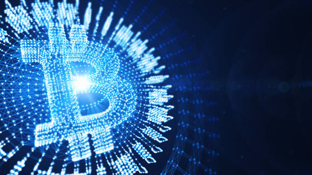 light of bitcoin - bitcoin stock photos and pictures