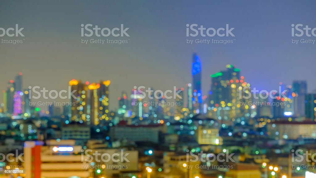 Light of city stock photo