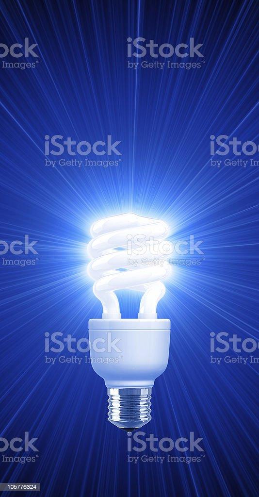 Light of Compact Fluorescent LightBulb royalty-free stock photo