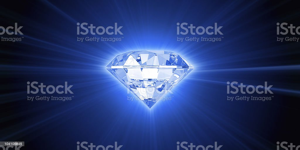 Light of diamond stock photo