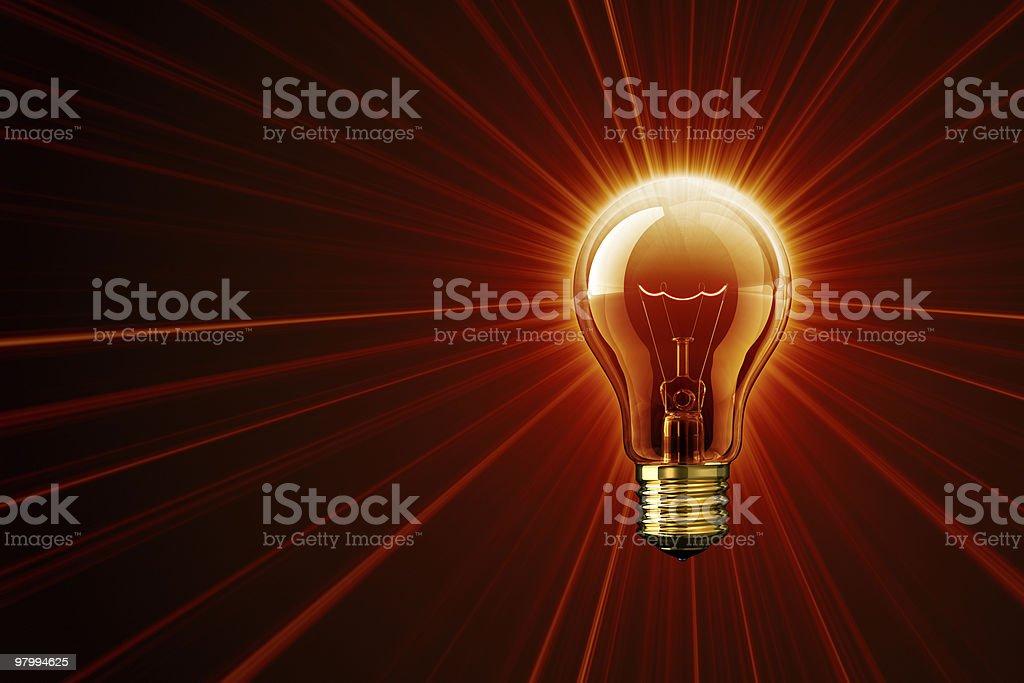 Light of Hot Idea royalty free stockfoto