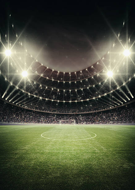 light of stadium Soccer stadium in lights and flashes 2014 stock pictures, royalty-free photos & images