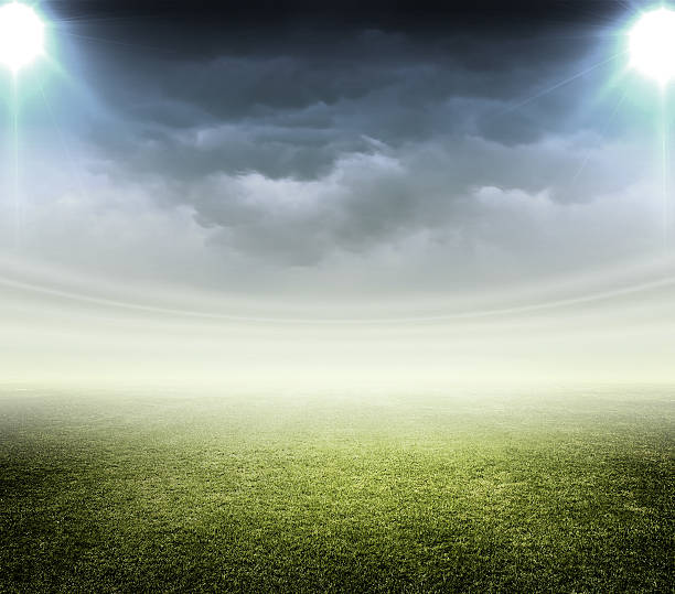 light of stadium Soccer stadium background baseball sport stock pictures, royalty-free photos & images