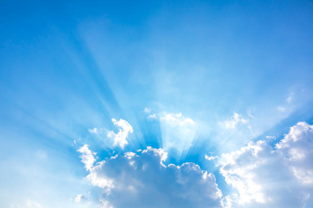 Light of sun and sky blue or azure sky and cloud Light of sun and sky blue or azure sky and cloud atmospheric mood stock pictures, royalty-free photos & images