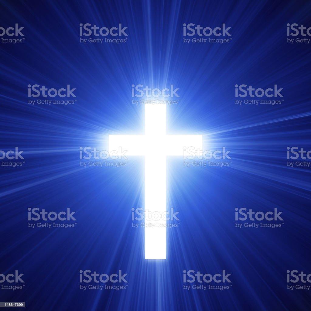Light Of The Cross royalty-free stock photo