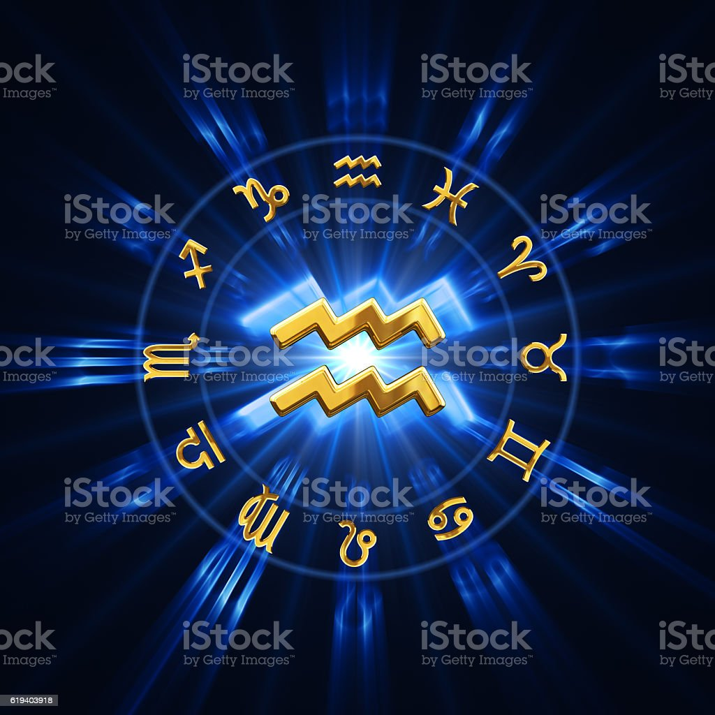 Light Of Zodiac Aquarius stock photo