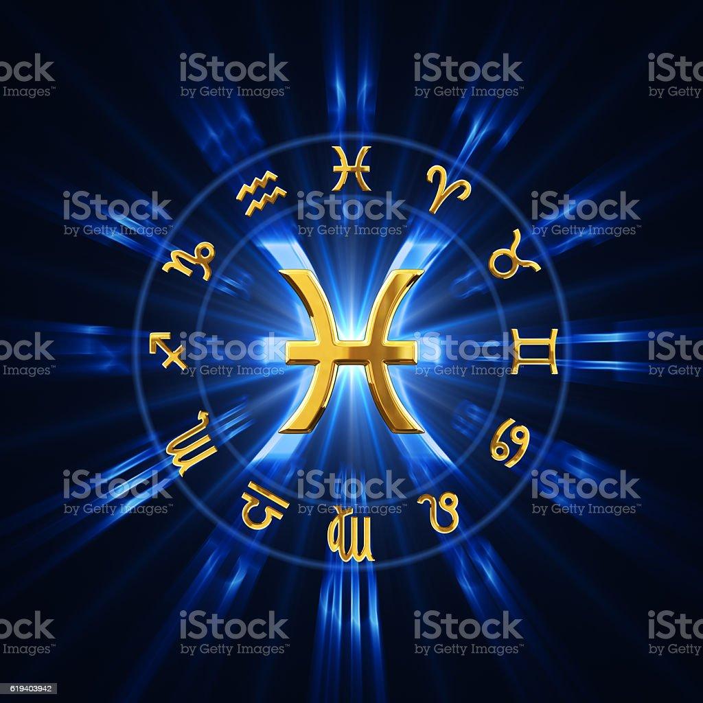 Light Of Zodiac Pisces stock photo