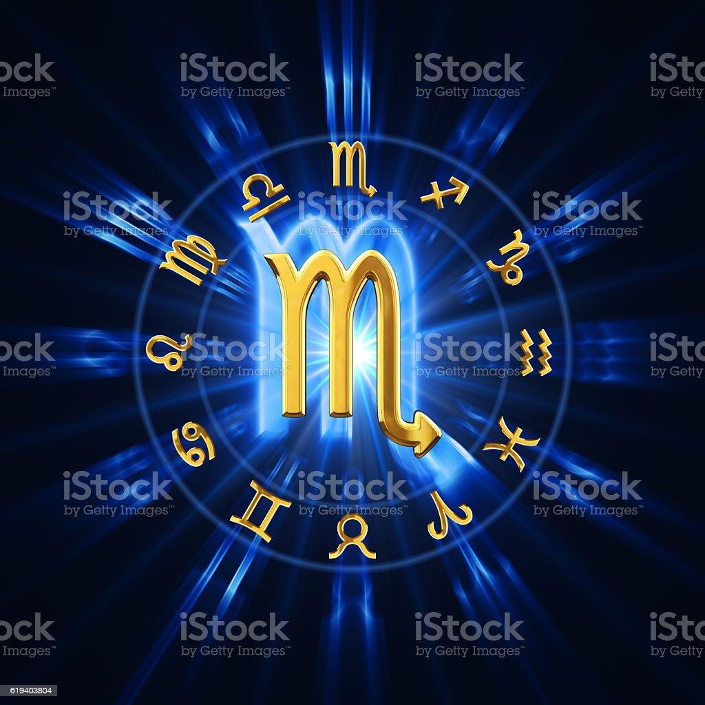 Light Of Zodiac Scorpio stock photo