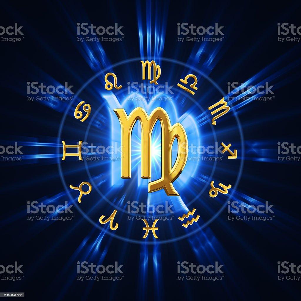 Light Of Zodiac Virgo stock photo
